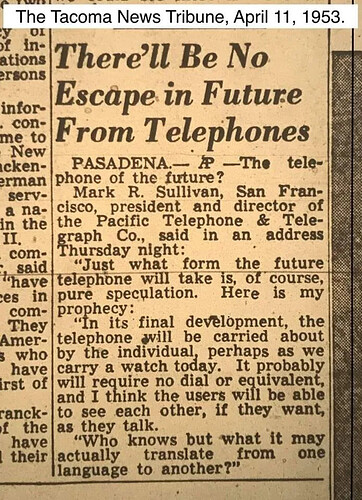 prediction about phones