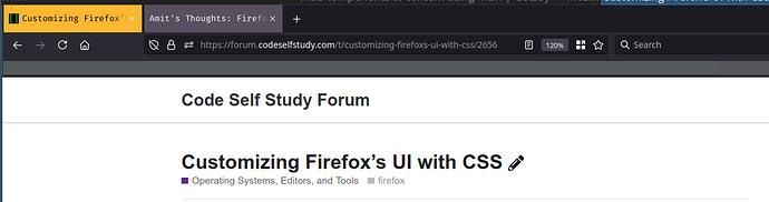 Firefox UI customization