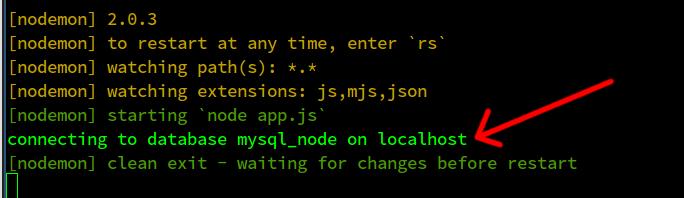 node.js mysql/mariadb