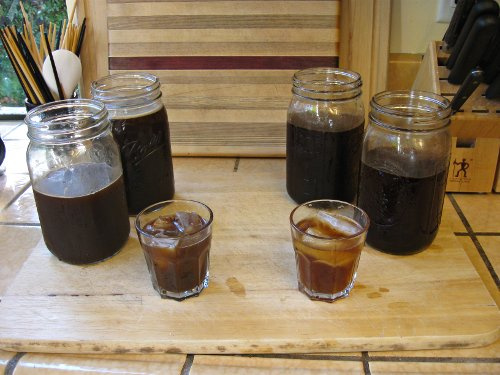 homemade cold brew iced coffee