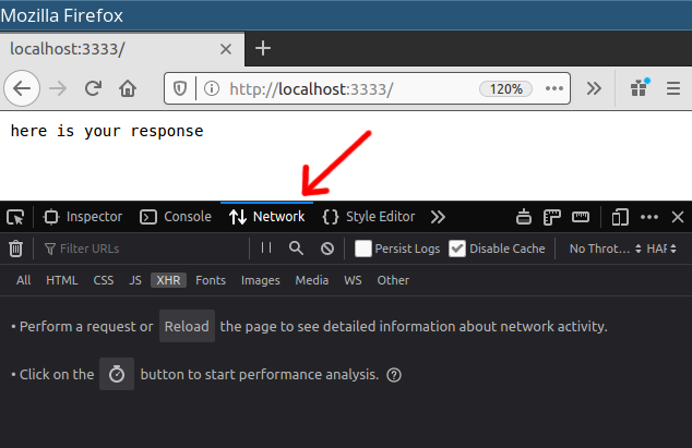Firefox network monitor